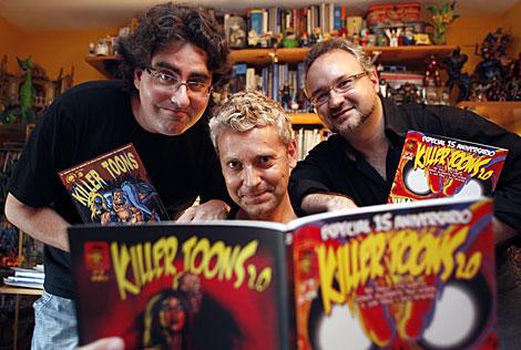 Raulo, Moi y Zorum, tres de los miembros de la redacción de 'Killertoons 2.0'. | M. Cubero