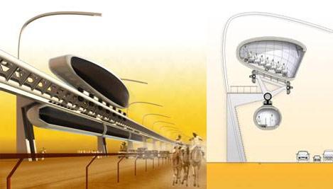 Sistema de visualización mediante monorraíl ideado por el estudio español.   Elmundo.es
