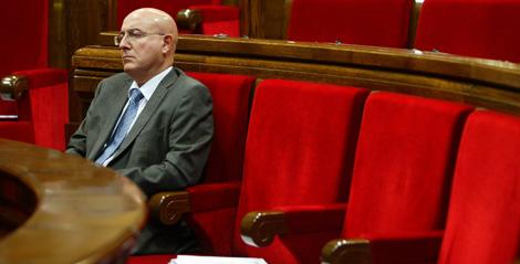 Tresserras, durante el pleno del Parlament en el que se ha aprobado la ley. | Domènec Umbert