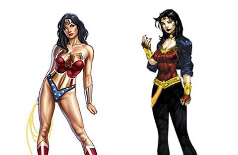El viejo y el nuevo 'look' de Wonder Woman. | Reuters