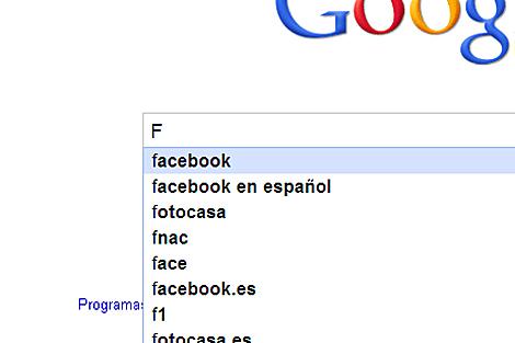 España, alfabeto Google.