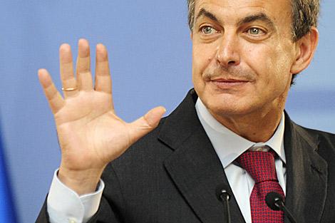 Rodríguez Zapatero en La Moncloa. | Bernardo Díaz