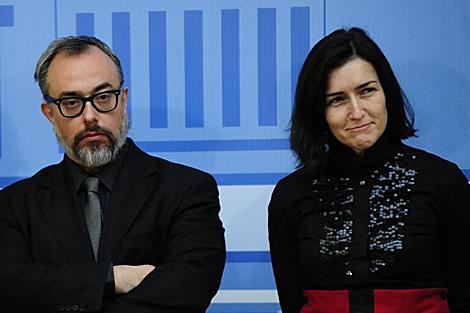 Álex de la Iglesia con la ministra Sinde. | Bernardo Díaz