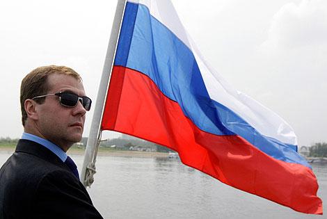 Medvedev, durante su visita a Siberia. | Reuters