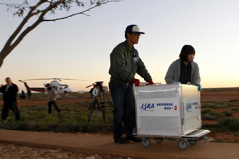 Posibles restos de la capsula 'Hayabusa'. | Reuters