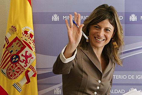 La ministra de Igualdad, Bibiana Aído, en un acto en Madrid este martes. | Efe