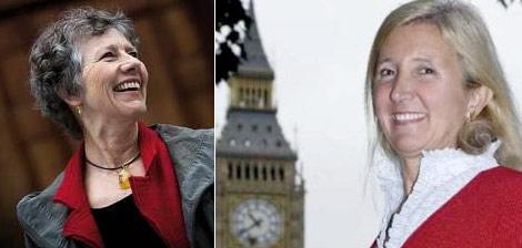 Las eurodiputadas Margrete Auken (Los Verdes) y Marta Adreansen (UKIP)   Elmundo.es