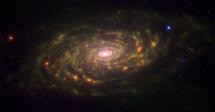 La galaxia Girasol en el infrarrojo. | NASA/JPL, Spitzer