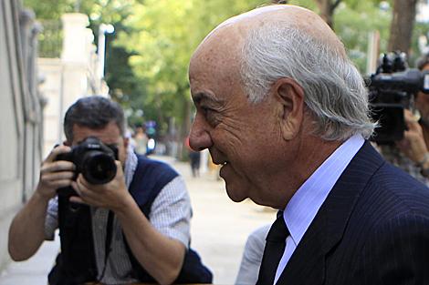 Francisco González, presidente de BBVA, entrando a declarar en el Supremo. | Reuters