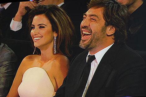 Penélope Cruz y Javier Bardem, juntos en la ceremonia de los Goya 2010. | Afp