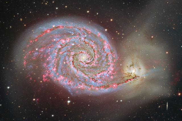 La galaxia M51 'el Remolino'. | CAHA