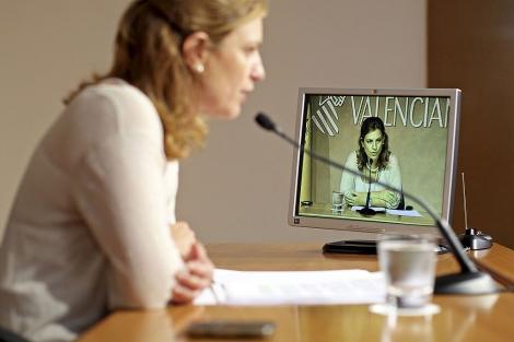 La portavoz del Consell, Paula Sánchez de León. | Efe
