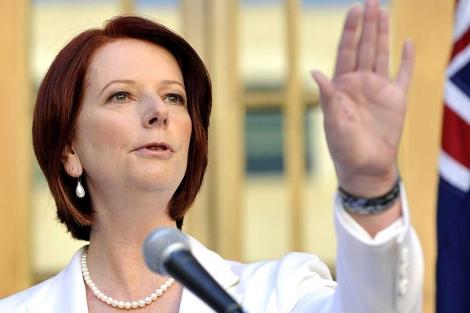 Julia Gillard, primera ministra de Australia, anuncia elecciones generales. | AFP