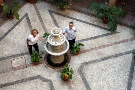Gloria Fernández y Enrique Garcelán. | Romero