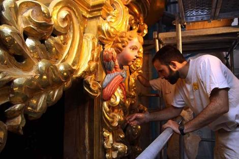 Puesta a punto del órgano de la Catedral de Segovia. | Rosa Blanco