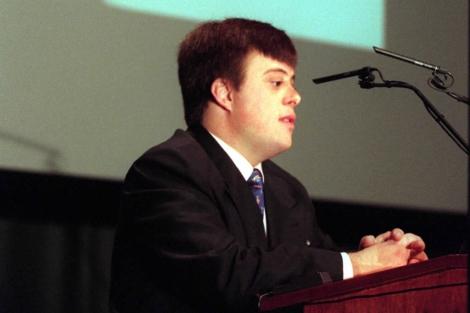 Pablo Pineda contando su experiencia   Ángel Casaña