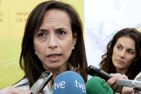 La ministra de Vivienda, Beatriz Corredor, en Murcia. | Efe