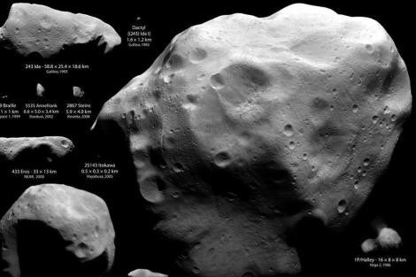 Ejemplos de asteroides y cometas visitados por naves espaciales. | NASA