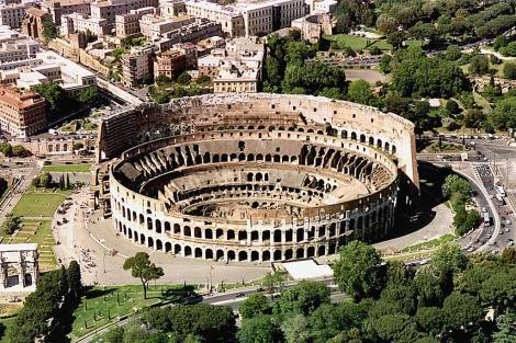 Foto aérea del Coliseo. | Reuters