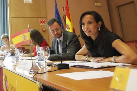 Beatriz Corredor durante la Conferencia Sectorial. | Antonio M. Xoubanova