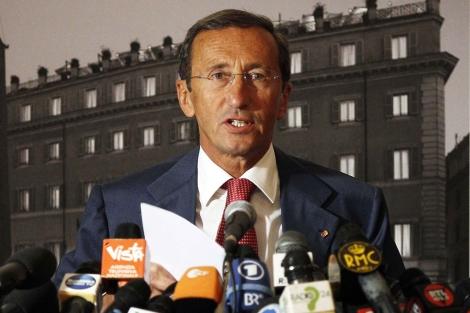 El presidente de la Cámara de los Diputados de Italia, Gianfranco Fini. | Reuters