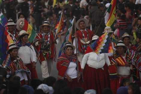 Indígenas celebran el día de la Fuerzas Armadas en Bolivia | EFE