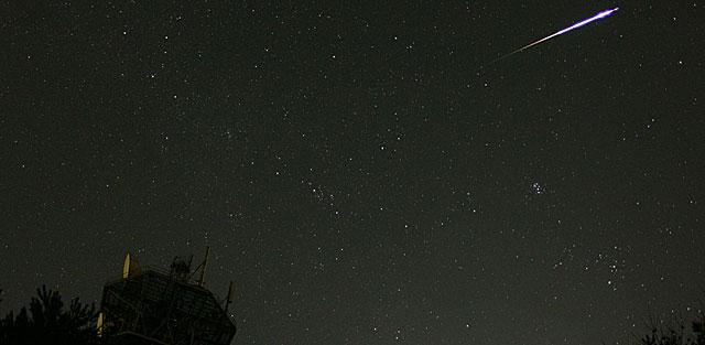 Una Perseida vista en Japón, agosto 2008 | NASA, K. Mouri & S. Kobayashi (Planetario de Nagoya).