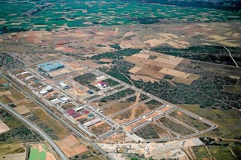 Vista aérea del polígono industrial de Villadangos del Páramo, en la provincia de León.