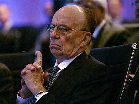 El presidente de News Corp., Rupert Murdoch, durante una conferencia. | Reuters.