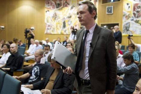 Julian Assange, en un seminario en Estocolmo. | Reuters