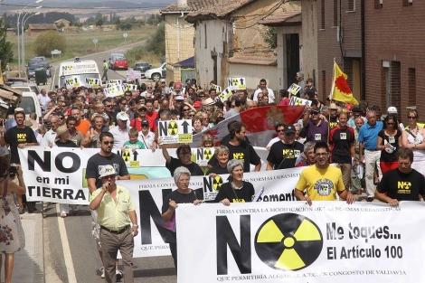 Cabecera de la manifestación en Congosto, Palencia. | Manuel Brágimo
