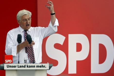 Frank Walter Steinmeier, durante un mitin del SPD en Saarbrucken (Alemania). | Reuters
