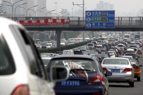 El astasco en el centro de Pekín.   Reuters