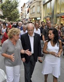 Corredor visitó ayer Rosas (Gerona), junto al presidente Montilla. | Efe