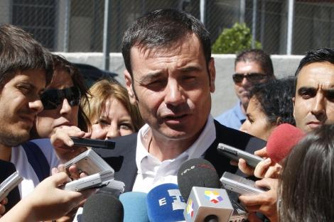 Tomás Gómez en una de sus intervenciones ante los medios   Juan Carlos Hidalgo