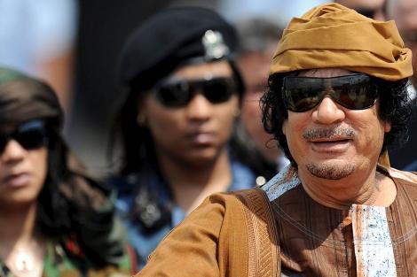 El líder libio, a su llegada a Roma, este domingo. | Efe