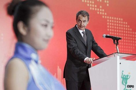 José Luis Rodríguez Zapatero, en Shangai. | Efe