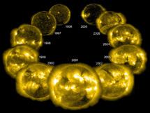 El último ciclo solar observado por el SOHO en el ultravioleta | ESA, NASA, SOHO/EIT