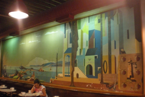 El mural del pintor gallego mide 20 metros | M.N.