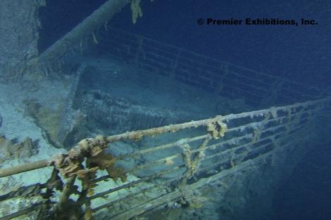 Imagen de la proa del Titanic, tomada durante la expedición. | WHOI