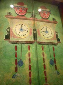 Obra de Lugris en el restaurante A Mundiña.