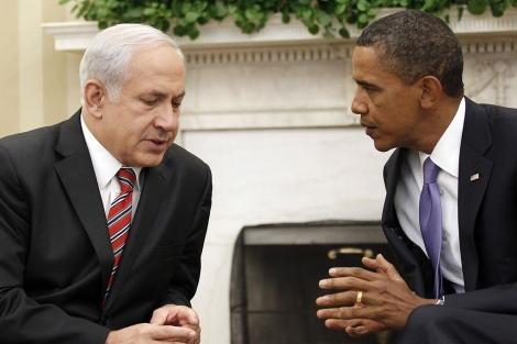 Benjamin Netanyahu, junto a Obama. | AP