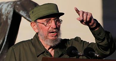 Fidel Castro, durante su discurso ante los estudiantes.   Ap
