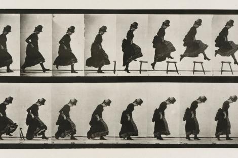 'Saltando', de Muybridge en 1887. | Efe.