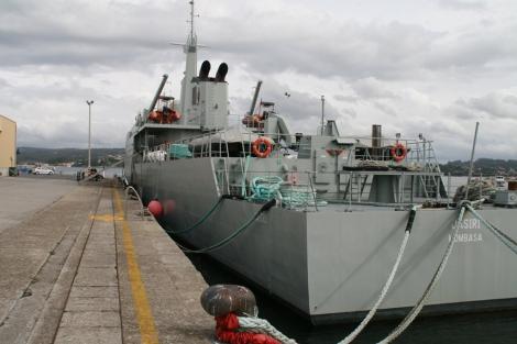 La popa del barco, con el nombre del principal puerto oriental de África: Mombasa. | A.B.