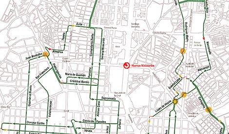 Imagen del mapa con las calles más tranquilas.