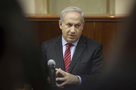 El jefe del Gobierno israelí, Benjamin Netanyahu, durante un Consejo de Ministros. | Efe