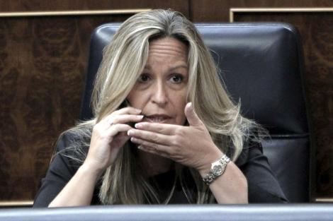 La ministra de Sanidad y precandidata socialista a la Comunidad de Madrid, Trinidad Jiménez. | Efe