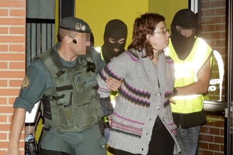Erika Bilbao, detenida por la Guardia Civil en Erandio (Vizcaya). | Efe