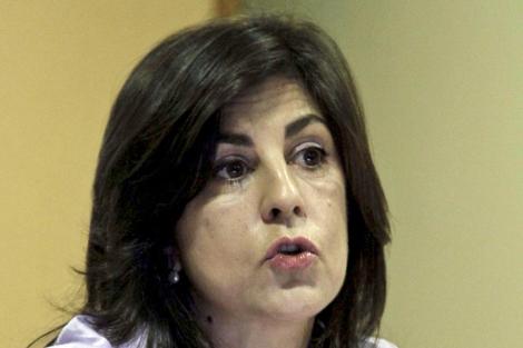 Gloria Lago, presidenta de Galicia Bilingüe, en Vigo | Salvador Sas